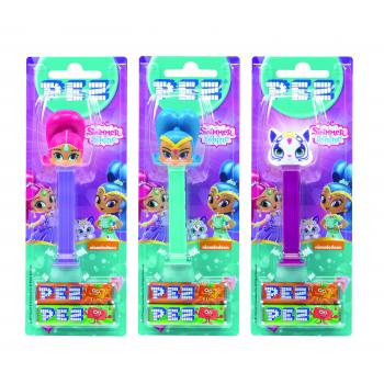 PEZ blister 1 jouet Shimmer & Shine + 2 étuis