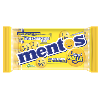 Multipack Mentos Say Hello Citron - 4 rolls