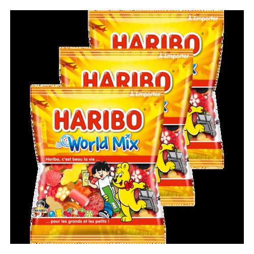 Haribo World Mix - Lot de 3 sachets 120g
