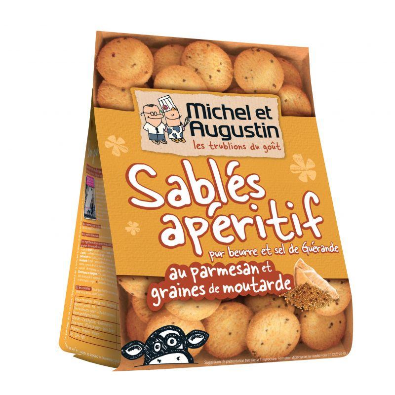 Michel et Augustin Sablés Parmesan et Moutarde