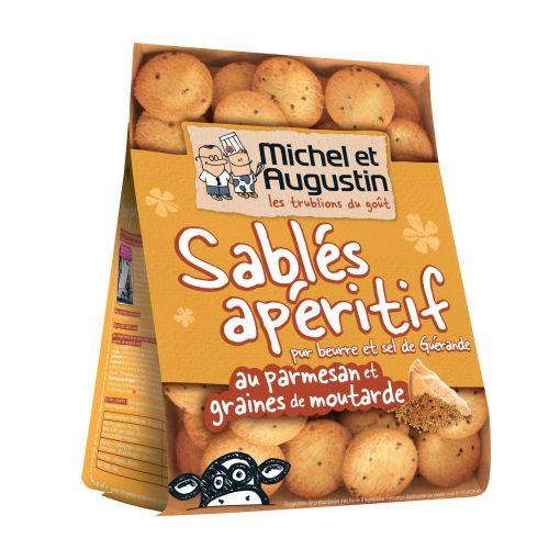 Michel et Augustin Sablés Parmesan et Moutarde - 120g