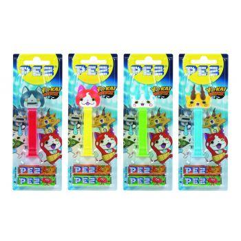 PEZ blister 1 jouet Yo Kai Watch + 2 étuis